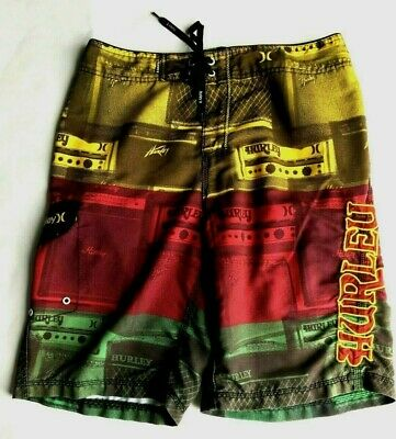 fb7ddde9fb Hurley Board Shorts Swim Trunks Mens Size 34 Colorful Calif Surf Skate  Beachwear