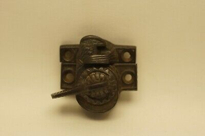 Ornate Antique Victorian Window Sash Lock Cast Iron