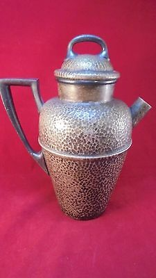 Vintage Taber&Tibbits (T&T) Silver Plate NS Hand Hammered Juice Pitcher &reamer