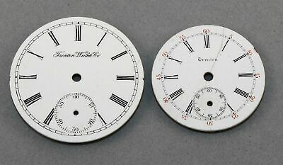 VINTAGE LOT of TWO TRENTON POCKET WATCH DIALS - IN305