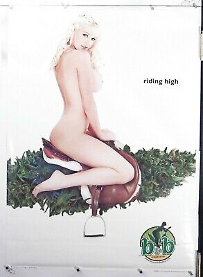 """BUDS AND BABES Riding High RARE 2001 pinup POSTER 25"""" X 35.50"""" NOS (b599)"""