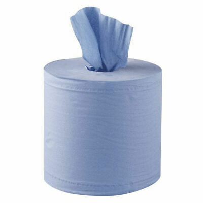 Blue Paper Roll 2 ply 150M x 19cm Centre Feed Pack of 6 WITH FREE DELIVERY