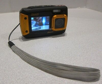 Coleman Duo2 2V9WP 20 MP Waterproof Digital Camera with Dual LCD Screen Orange