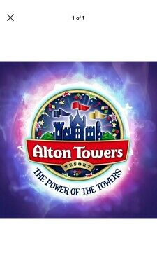 6 X ALTON TOWERS TICKETS WEDNESDAY 21st AUGUST SCHOOL HOLIDAYS