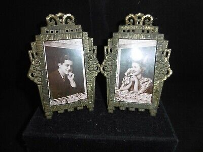 Cute little pair of French Art Deco picture frames. c1930