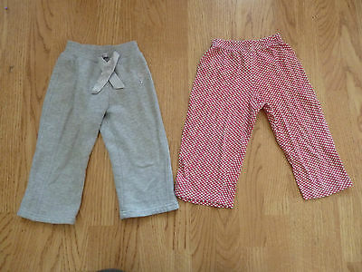 2 pairs Baby girls TROUSERS 18-24 months Angel silver grey & red spotted Primark