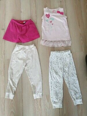 Girl's pink sleeveless TOP 2 - 3 years with lace hem Young Dimension Love Bow