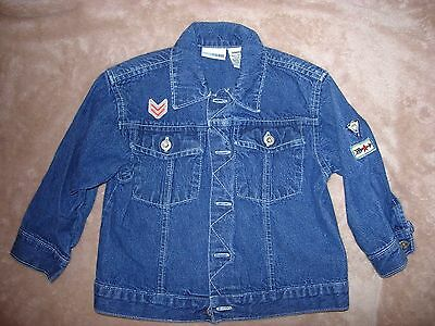 "24 month boys 100% cotton blue denim jacket made by ""Canyon River Blues"""