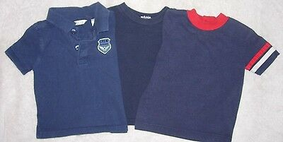 18 month boys lot of 3 summer navy blue T-shirts by George, Disney & unbranded-2