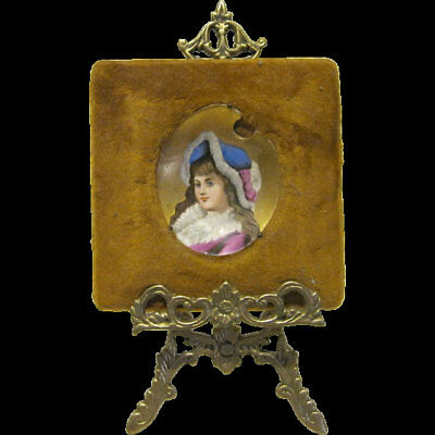 17th CENTURY~Miniature~Antique~EUROPEAN~Painting~SHABBY~RARE~Chic~A Beauty~NR