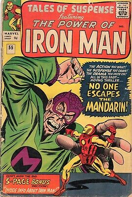 TALES OF SUSPENSE #55 Iron Man Silver Age Marvel Comics 1964 GD