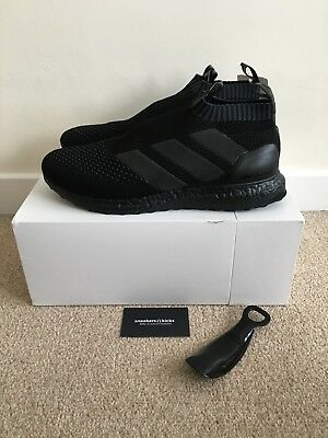 d285c61aa90f7 Adidas Ace 16+ Purecontrol Ultra Boost Triple Black UK 11 US 11.5 BY9088 17+