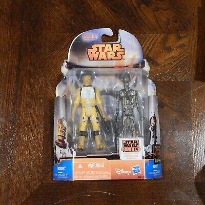Sale RARE DISNEY Star Wars Rebels BOSSK and IG-88 MS11 Hasbro MINT blister