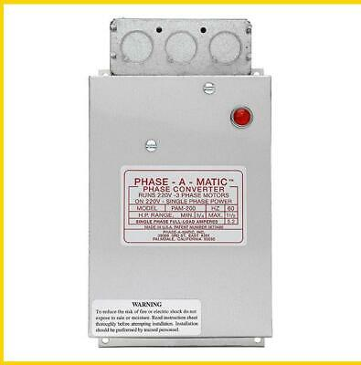 Pam-200 -  3/4 - 1 1/2 Hp - 220 Vac - Phase-A-Matic Phase Converter