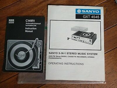 Sanyo GTX 4545 Stereo System Operating Instructions User Manual Guide