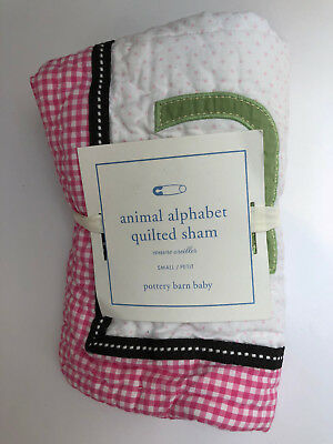 Pottery Barn Baby Kids Animal Alphabet Quilted Sham New