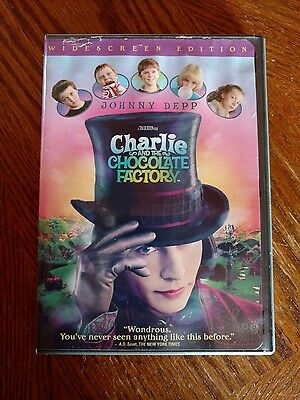 Charlie and the Chocolate Factory (DVD, 2005, Widescreen) A Tim Burton Film