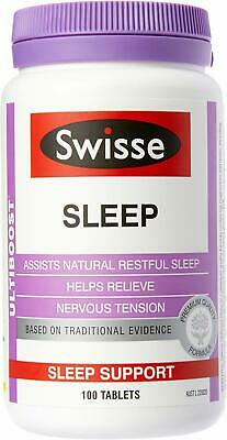 Swisse Ultiboost Sleep with Magnesium & Valerian 100 Tablets NEW Cheapest