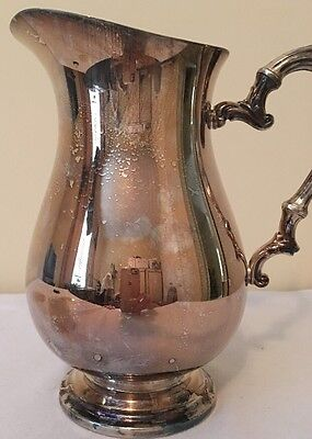 Vintage Wm Rogers Silverplate Water Pitcher Beautiful