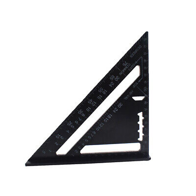 "7"" Inch Metric System Triangle Angle Square Speed Rafter Protractor Miter Ruler"