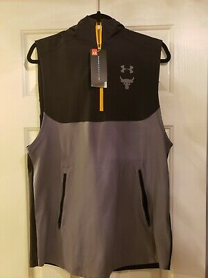 33bcd8728343e UNDER ARMOUR UA x Project Rock Vanish Sleeveless Hoodie Large ...