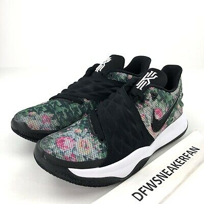 1b0d82b32ce Nike Kyrie Low Men s 10.5 Black Floral Print AO8979 002 New Kyrie Irving  Shoes