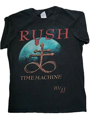 RUSH Time Machine Tour 2010 T Shirt 10/11 Size Small SM Concert Dates on Back