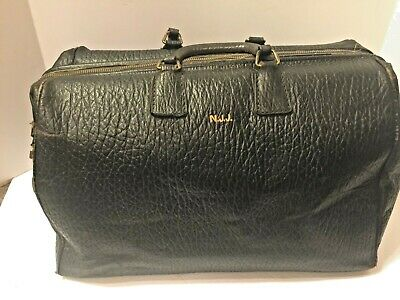 Antique Large Leather Embossed Doctor/Lawyer Bag