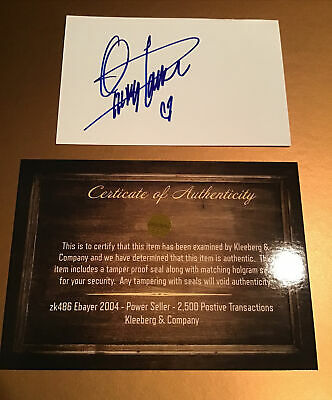 QUINCY JONES SIGNED Card BY AMERICAN RECORD PRODUCER, COMPOSER, MUSICIAN