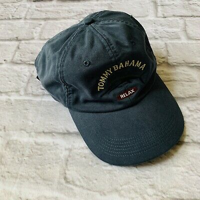 c85076d3258d0 Tommy Bahama Mens Washed Marlin Logo Relax Cap Hat Navy Blue Cotton Free  Ship