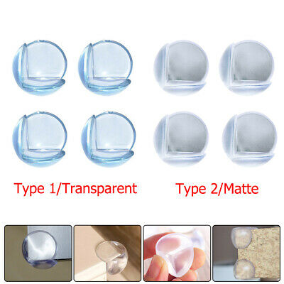 4pcs Clear Baby Safety Table Desk Edge Corner Cushion Guard Bumper Protector