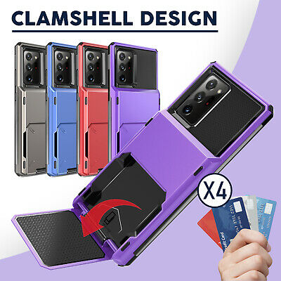 For Samsung Galaxy Note 10+/S10+/Plus Hybrid Case Wallet Card Slot Holder Cover
