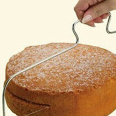 Adjustable Double Wire Cake Slicer Leveler Pizza Dough Cutter Trimmer MO