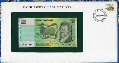 Banknotes of All Nations Australia 2 Dollars 1979 P43c AUNC Knight/Stone JTT*