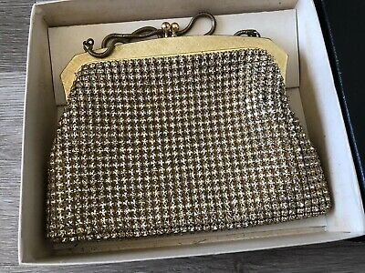 Oroton Handbag Diamond Cz Gold Evening Bag Vintage West Germany Made RARE