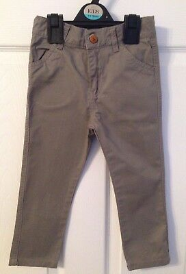 Kids Grey Andy And Evan Chino/Jeans/Trousers - Age 3yrs