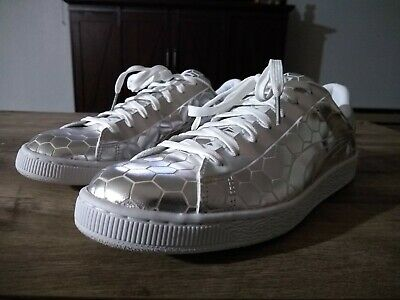 brand new 57bc5 c0891 PUMA BASKET CLASSIC Metallic Silver Low Top Shoes Size 11 Brand New!