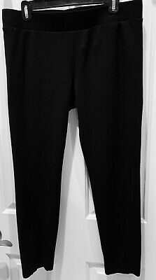 0f4f803ab30843 Cabi Womens Leggings Size L Ponte Knit Stretch Lineup Pants 3400 Black  PREOWNED