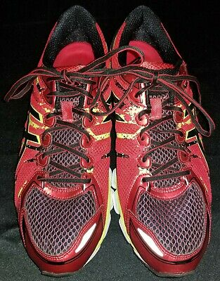 hot sale online 8a659 37850 Asics IGS Gel-Sendai 2 Splatter Print Red Black Running Shoes Sneakers Men  Sz 13