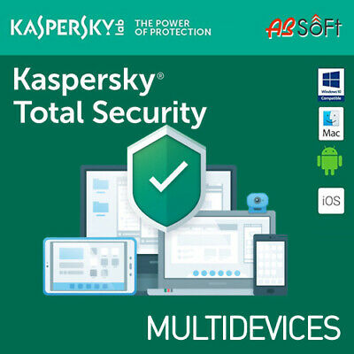 Kaspersky Total Security 2019 3 Appareils 3 PC 1 An  2018 FR