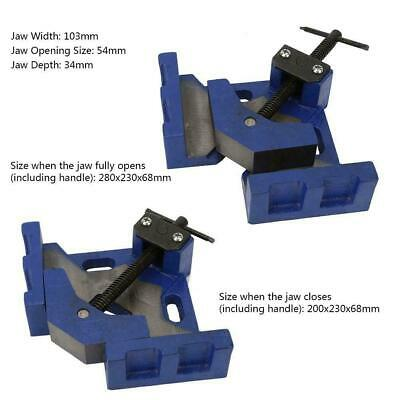 90 Degree Right Angle Heavy Duty Jaw Corner Clamp Welding Metal Work Hand Tool