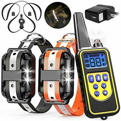Dog Training Collar, 2600ft Rechargeable Shock Collar for 2 Dogs Waterproof Dog