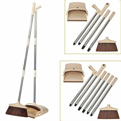 Foldable Broom and Dustpan Long Handle Extendable Sweep Set Dustpan & Brush Set