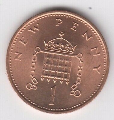 1p 1 Pence One Penny Coin 1971 UK Decimal Collectable Currency B.Unc