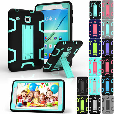 """For Samsung Galaxy Tab A E S3 8.0""""10.1""""Case PC Armor Shockproof Hard Stand Cover"""