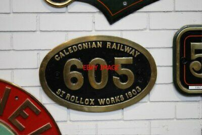 Photo  Caledonian Railway St Rollox Works And Number Plate At The National Railw
