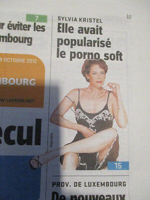 Journal Du Deces De : Sylvia Kristel 19/10/2012