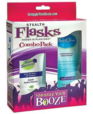 Smuggle Your Booze Creme/Hand Sanitizer Hidden Flask Combo Pack with Funnel