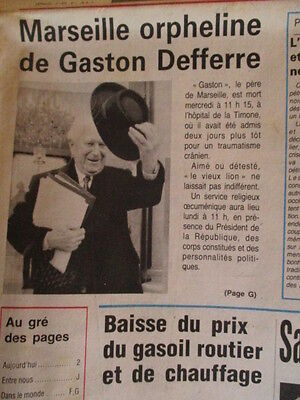 Journal Du Deces De : Gaston Defferre 09/05/1986