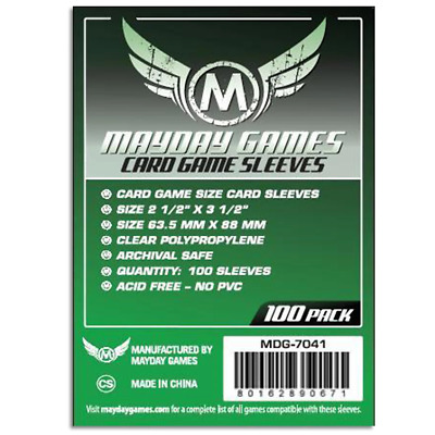 Mayday Card Sleeves Pack of 100 63.5 X 88 MM